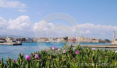 Harbor in Chania, Western Crete, Greece