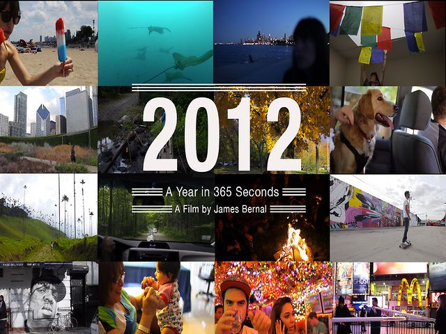 2012 in 366 seconds, A Photographer Documents His Year in Daily One Second Increments