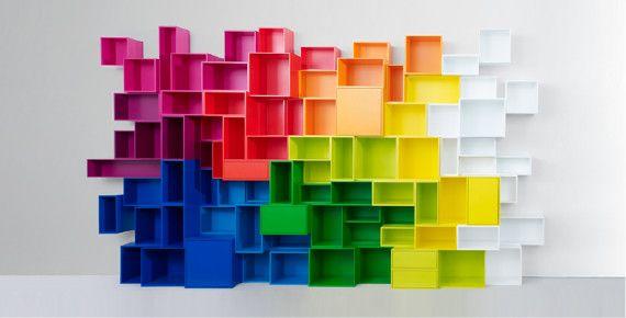 Farbenfroh Und Modular: Das Cubit Regal | |P L A S T I C| U0026 | Pinterest |  Markthalle, Regal Und Günstig