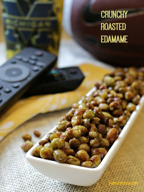 Crunchy Roasted Edamame Beans perfect game day high powered snack