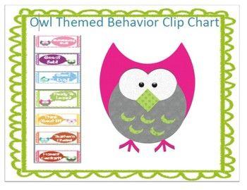 Owl Themed Behavior Clip Chart :) by LILY C | Teachers Pay Teachers