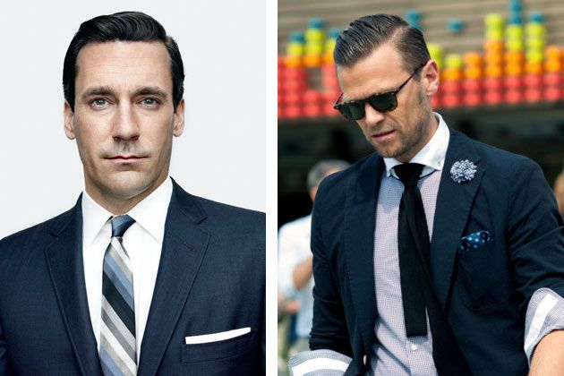 The classic part    Really, a variation of the slick back with a distinctive parting worn at the side of your choosing. Jon Hamm of 'Mad Men' fame wears this look convincingly. You will need a fine tooth comb and high shine pomade to create the perfect part. The slicked portion of the hair can be worn either to the back or off to the side.Perfect Hair, Hair Ideas, Men Hair Side Parts, Mexico Cities, Mexico City, Men Style, Madmen, Mad Men Hair, New Hairstyles