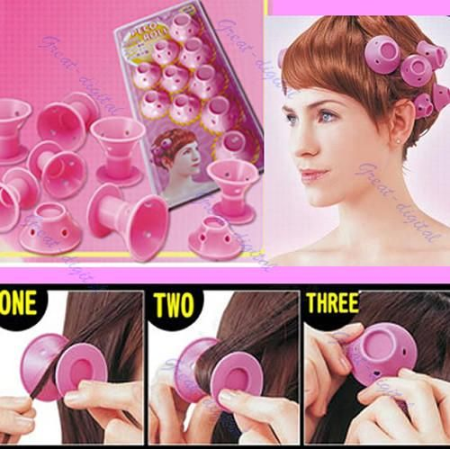 Roller Curler Salon Hairstyle Soft Hair Care DIY Peco Roll 10pcs Item Type: Styling Volume Type: Velcro Hair Rollers Size: 4.3cm Applicable hair: Universal Material: Plastic Brand Name: Kemei Quantity: 10pcs