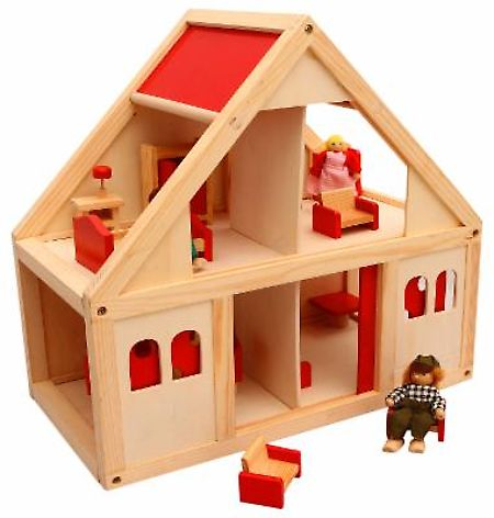 Ollington St. Collection Wooden Dollhouse