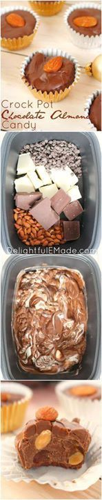 With just 4 ingredie With just 4 ingredients this easy to make...  With just 4 ingredie With just 4 ingredients this easy to make #Crockpot #candy is perfect for your #Christmas cookie trays! Chocolate and almonds come together to make a delicious treat that is not only great during the holidays or any time of year! Recipe : http://ift.tt/1hGiZgA And @ItsNutella  http://ift.tt/2v8iUYW