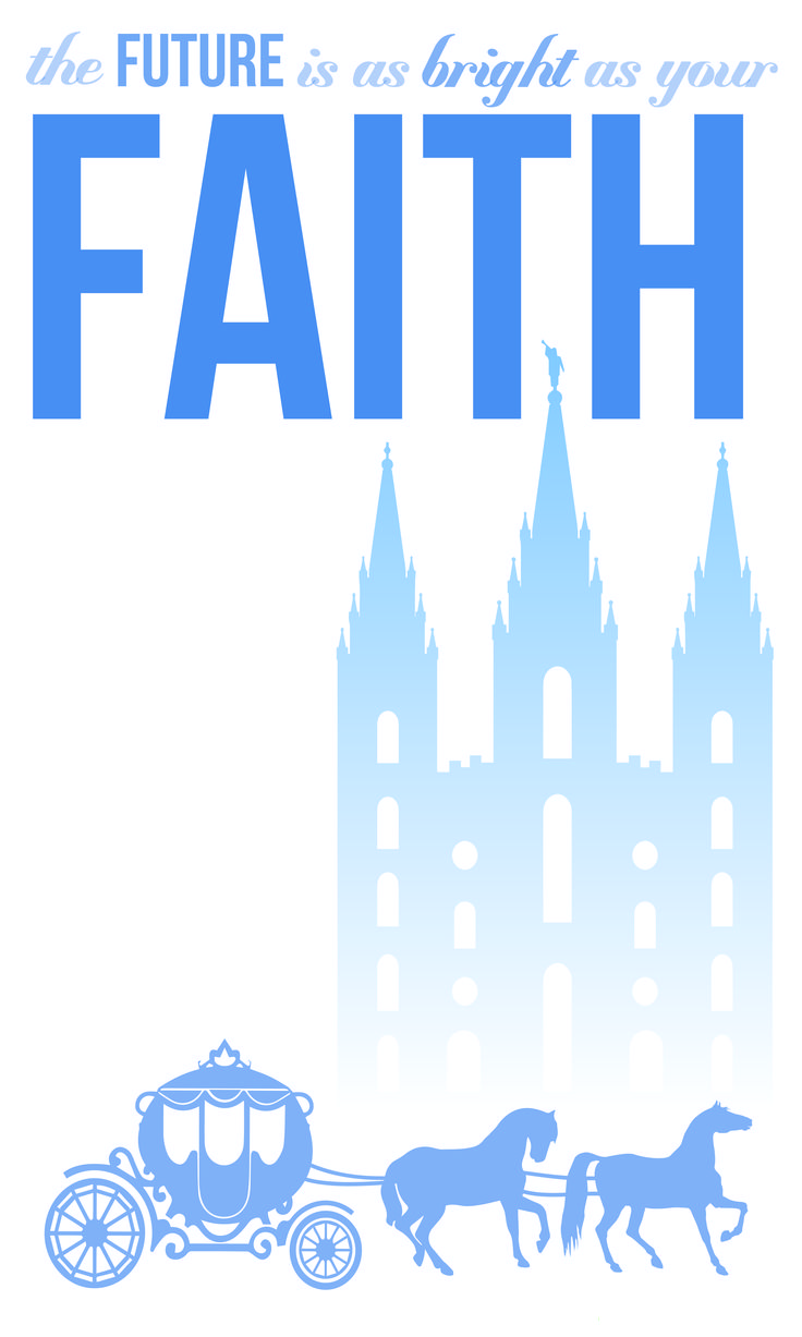 Young Women values with Disney Princess themes- Cinderella for Faith