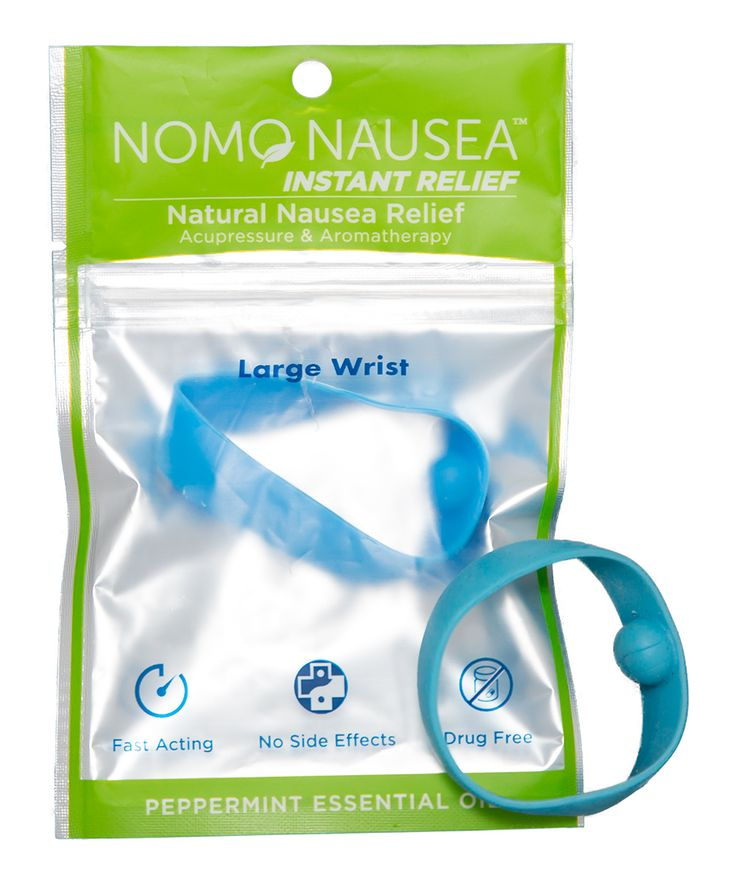 Large Blue Peppermint Anti-Nausea Band - Set of Two
