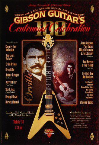Country Joe McDonald Poster Fillmore Auditorium (San Francisco, CA) Nov 20, 1994