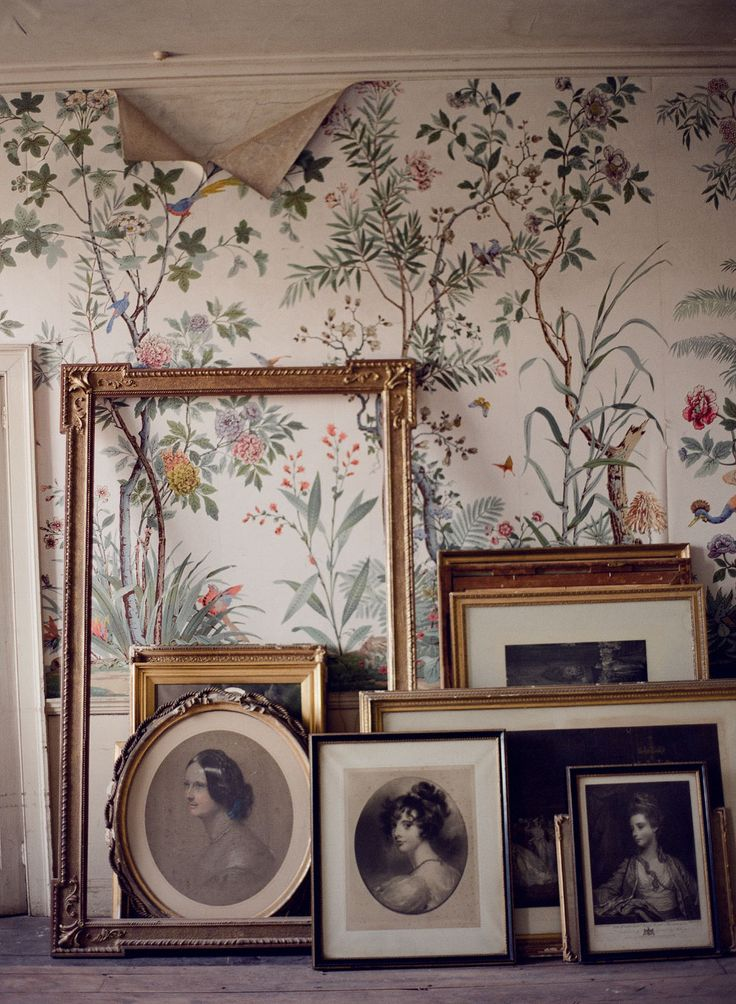 Taylor & Porter Fine Art Film Photography St. Giles House paintings in attic