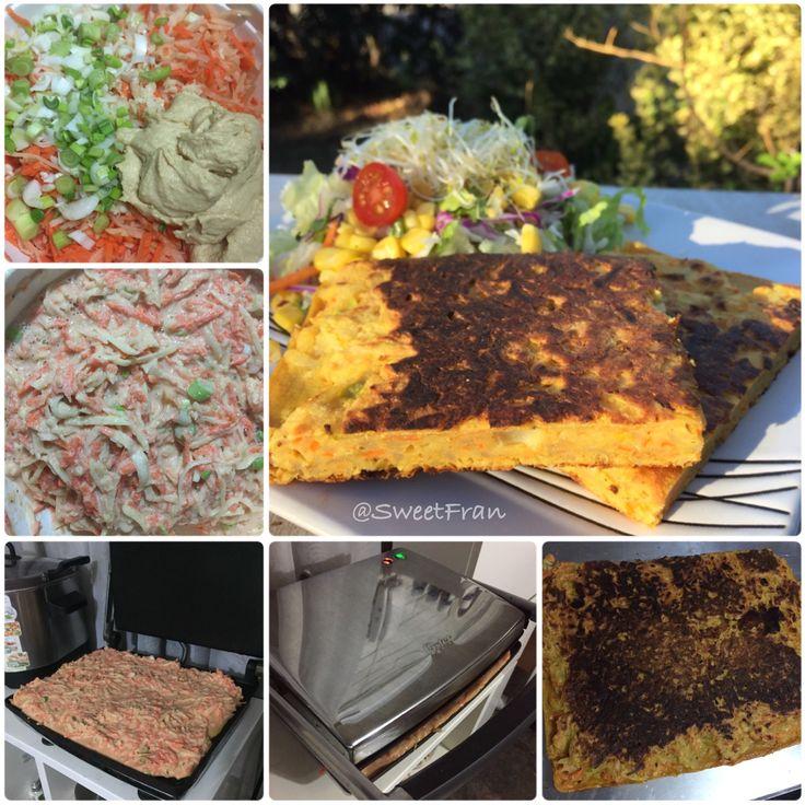 Tortilla de vegetales vegana. Receta paso a paso en mi Instagram que es @SweetFran