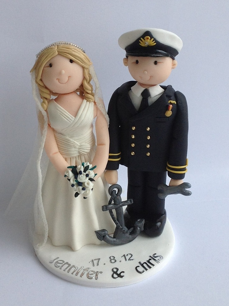 Woman interracial bald cake topper one
