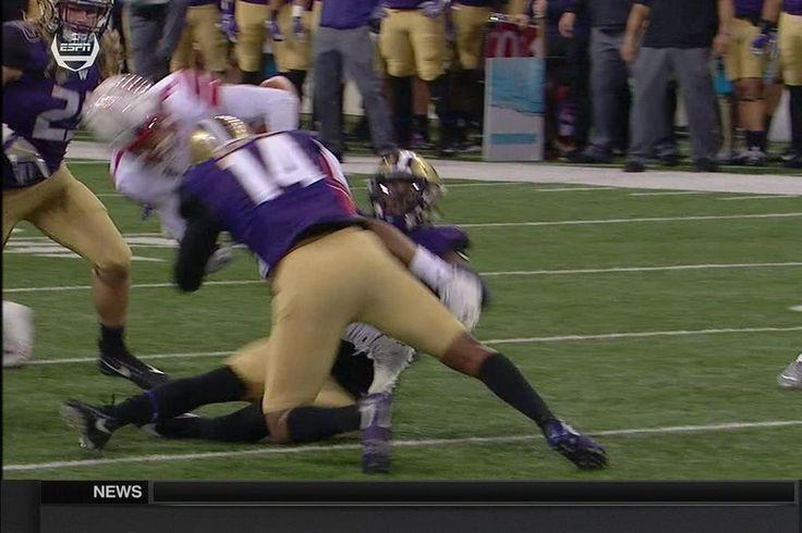 Washington jugador usa su cabeza como un arma y se tiraba para la focalización vs Utah