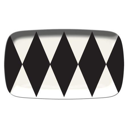 black and white tray