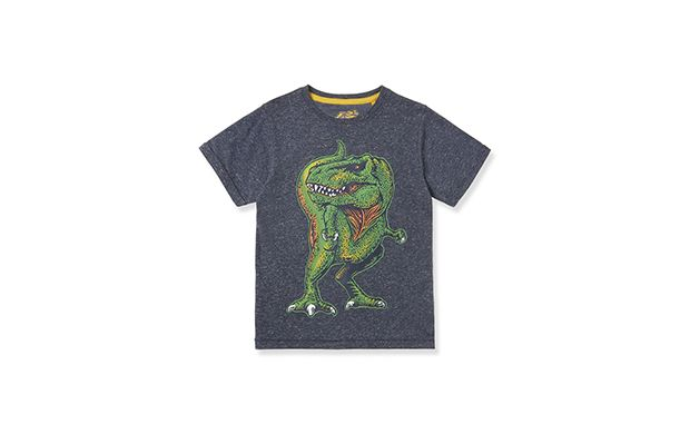 "Dino Tee. ""Any dinosaur loving little boy will love this printed t-shirt so much he won't want to take it off"""