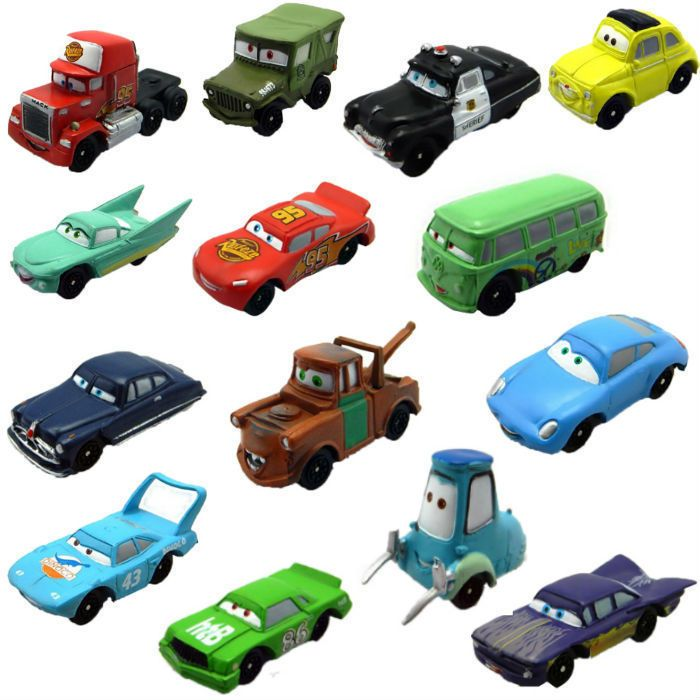 14 pcs/set Disney Pixar Cars figures Mini PVC Action Figures #Unbranded