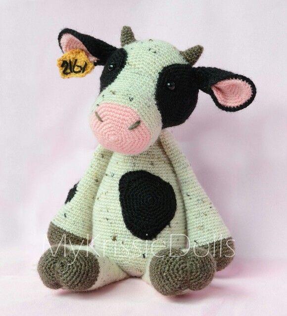 Mykrissiedolls Koe Crochet Cow Crochet Toys Crochet