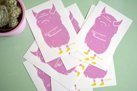 Monster Sticker Outdoor sticker / Transparent by BLOEMKOLIE