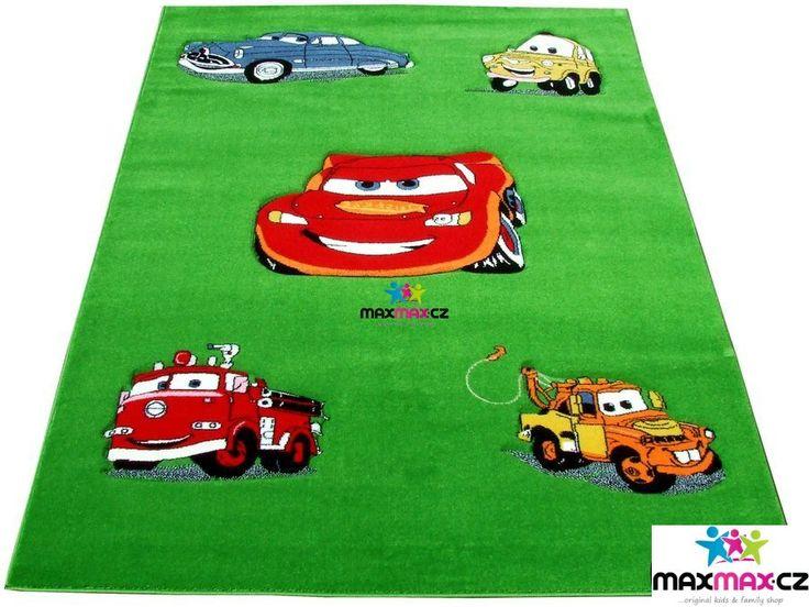 Dětský koberec CARS green