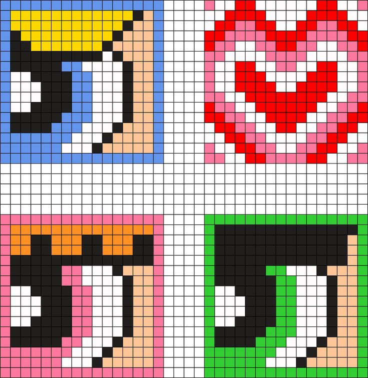 Powerpuff Girls Coaster Set Perler Bead Pattern / Bead Sprite