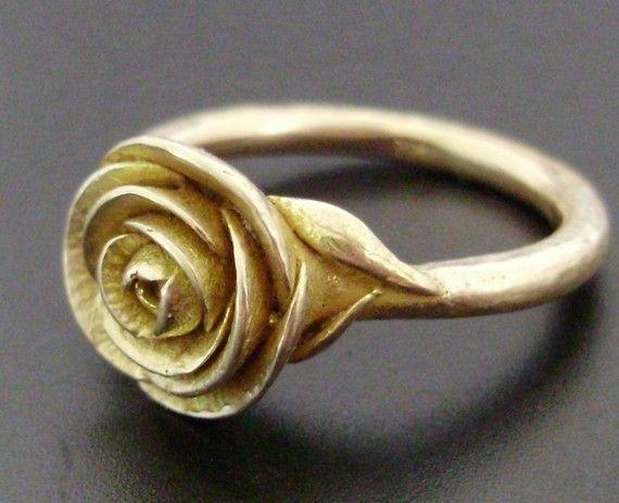 gold rose ring.