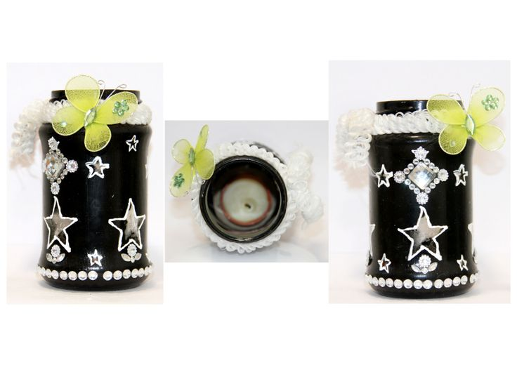 Decorative Candle Jar with Star light effects when candle is lighted up