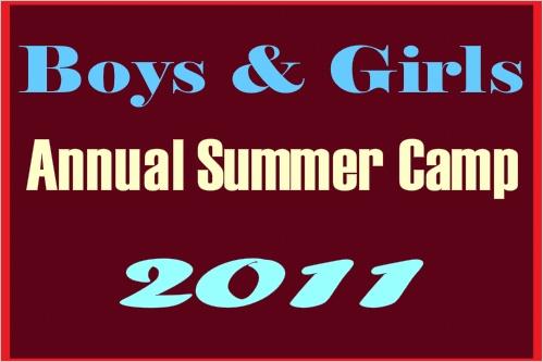 Boys & Girls Annual Summer Camp Banner