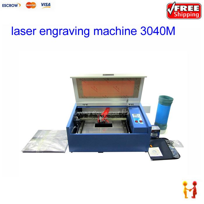 CNC laser cutting machine 3040M 50W CO2 engraving router with Rotary Axis 220V/110V