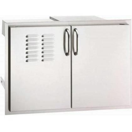 """33930S-12T Stainless Steel Double Access Doors with Outside Mounting Dual Drawers Tank Tray and Louvers (21"""" H x 30.5"""" W x 20.5"""" D) Heavy-duty Magnetic Latch"""
