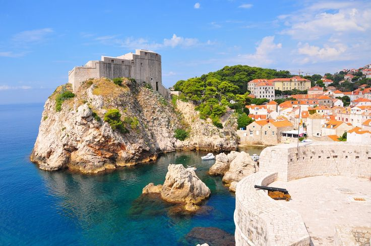 On the castle walls, Dubrovnik via: Behind The Lens Lukey looks like ariel's land castle :)