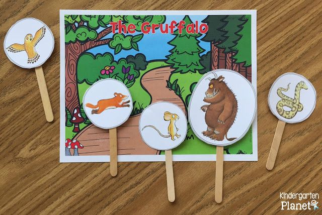 Kindergarten Planet - Storyboard Characters to practice retelling from The Gruffalo