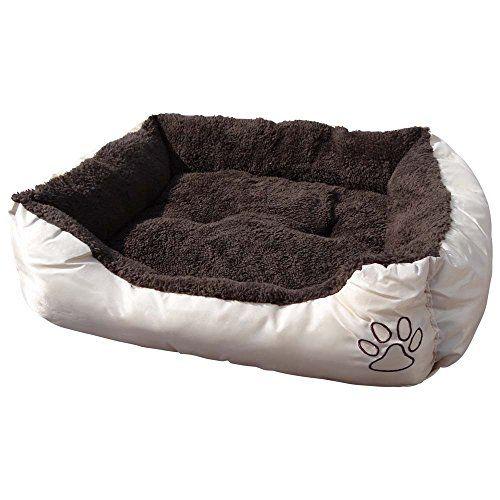 Cuccia per animali lavabile con cuscino di peluche, per cani, gatti e animali domestici Misura s - 47 x 37 x 17 cm Interno marrone, esterno beige Cleanwizzard http://www.amazon.it/dp/B00WMFSMEC/ref=cm_sw_r_pi_dp_hLJuwb0Q51Q76