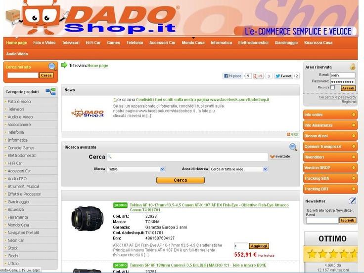 www.dadoshop.it - Dadoshop - Dadoshop italia - Dadoshop sito web