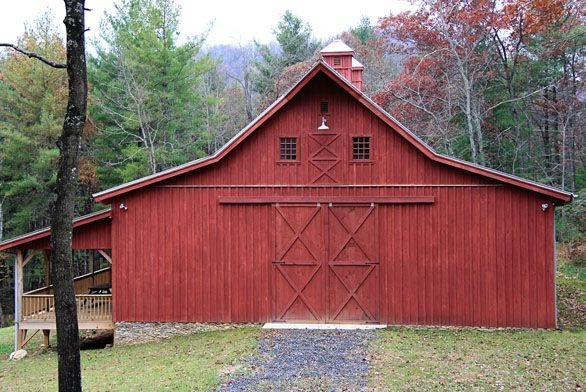 Rustic red wood barn with metal roof barns pinterest for Red metal barn
