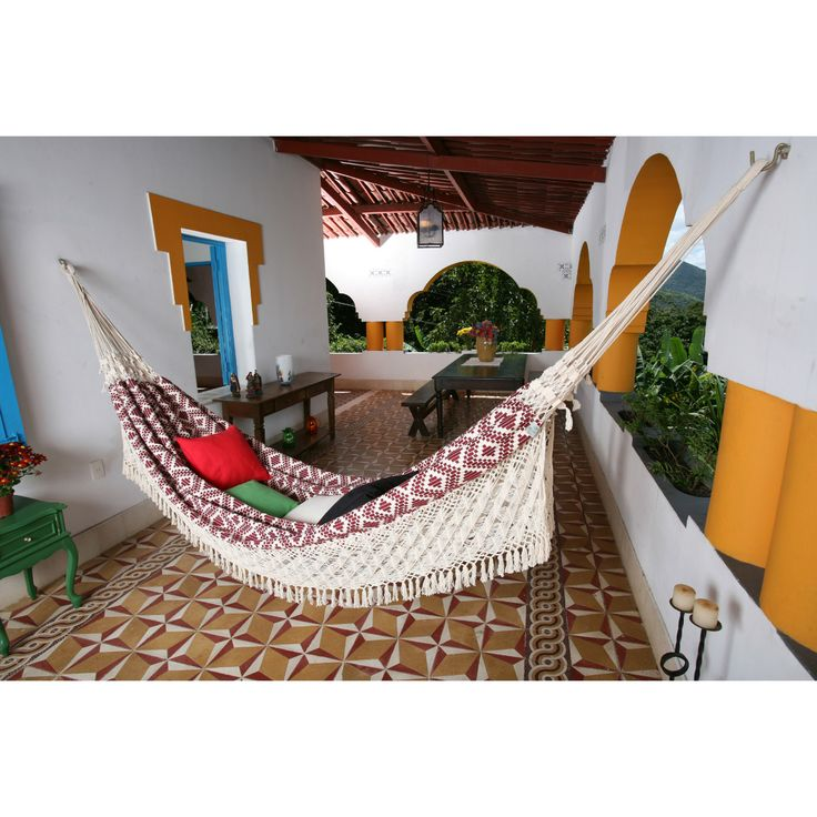XL Wine Jacquard Handwoven Brazilian Hammock   Hammocks At Hayneedle