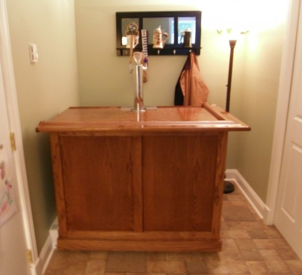21 best bar ideas images on pinterest basement ideas for Home bar with kegerator space
