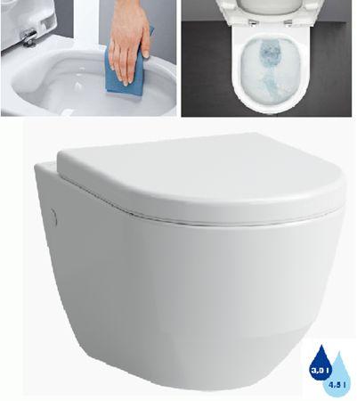 Závěsné WC Laufen Pro, zadní odpad