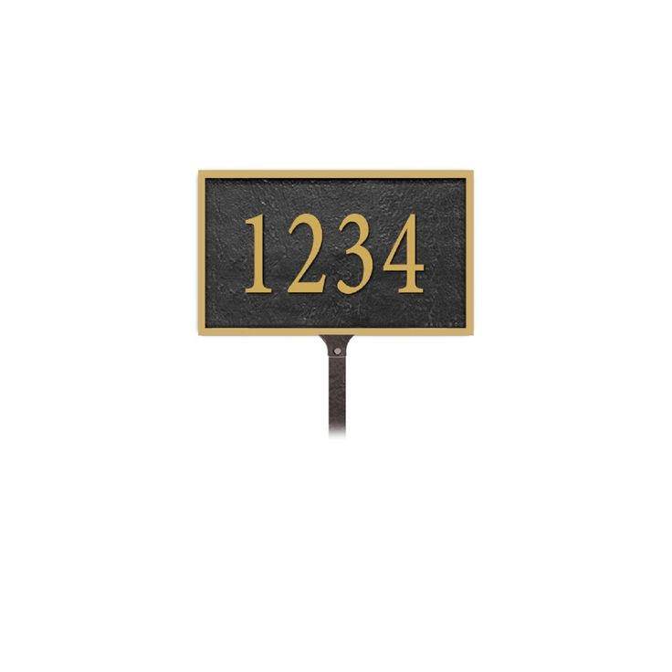 Salsbury Industries Cast Aluminum Plaque Rectangular Small Lawn Mounted  #home #hgtv #landscaping #mailbox #diy #architecture #curbappeal #homeimprovement #decor #realty