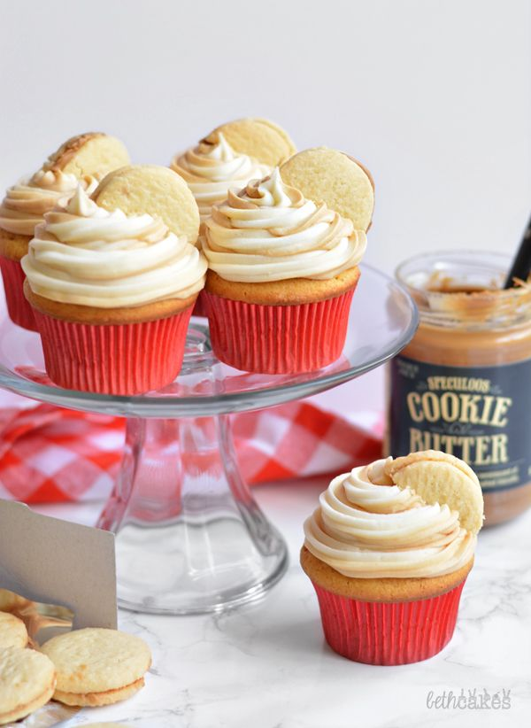 Cookie Butter Cupcakes. Made with love to support Cookies for Kids' Cancer and #OXOGoodCookies