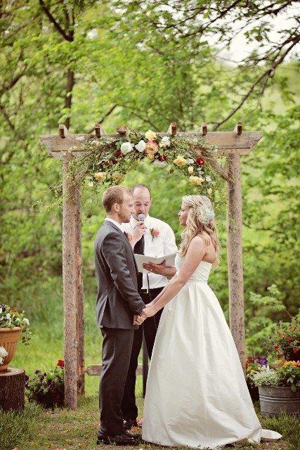 Wedding arbor decorations custom made wedding arbors and for Arbor wedding decoration ideas