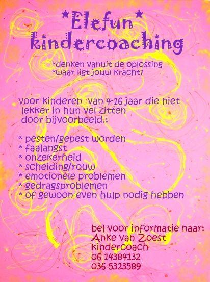 Elefun kindercoaching, denken vanuit de oplossing, waar ligt jouw kracht? 0614384132 Anke van Zoest, #Almere