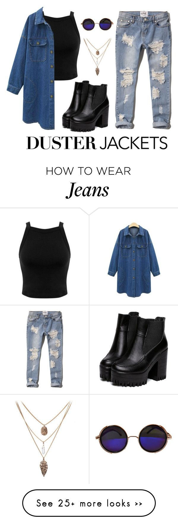 """""""Jeans Duster Jackets"""" by bfdotto on Polyvore featuring Miss Selfridge and Abercrombie & Fitch"""