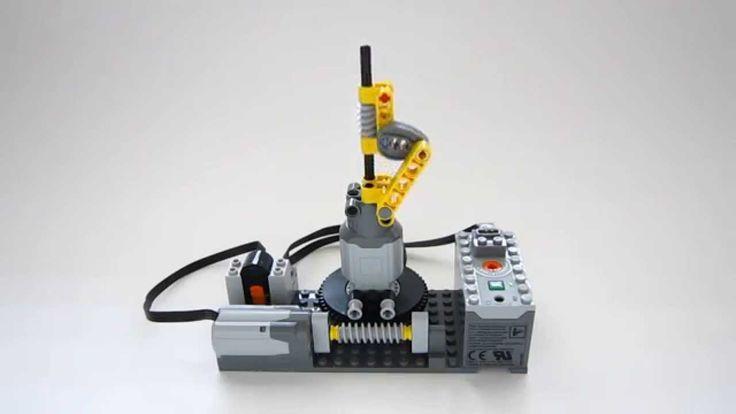 Lego Technic Worm Drive and Linkage Mechanism