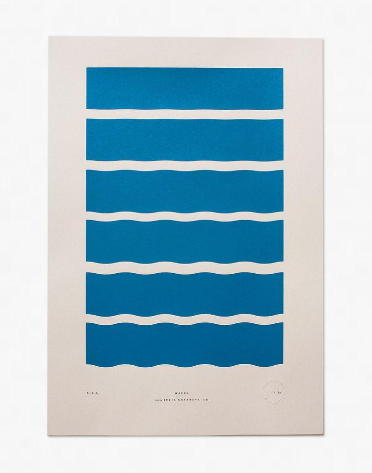 Waves - Limited Edition Screenprint, $30