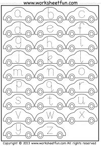 Small Letter Tracing – Lowercase – Worksheet – Car