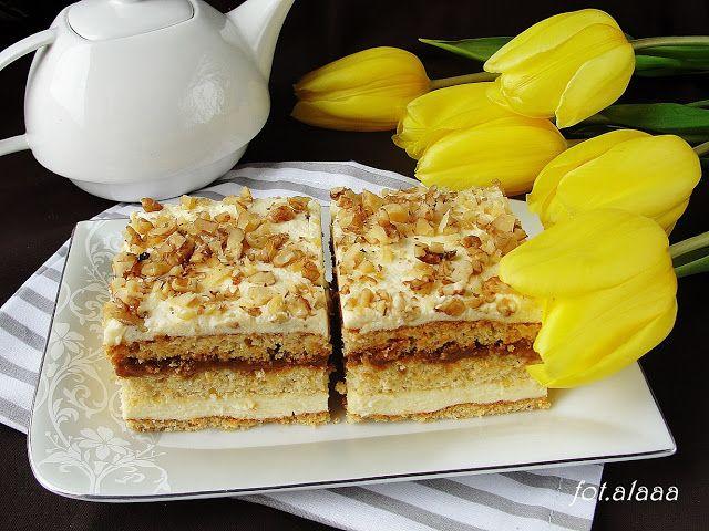 Ala piecze i gotuje: Ciasto krówka z orzechami