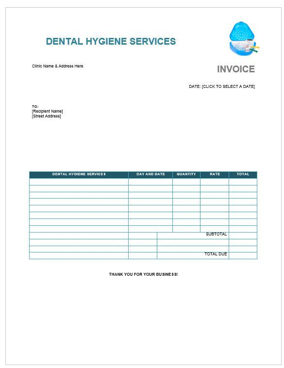 18 Dental Invoice Templates With Brilliant Designs (Word, PDF, Excel
