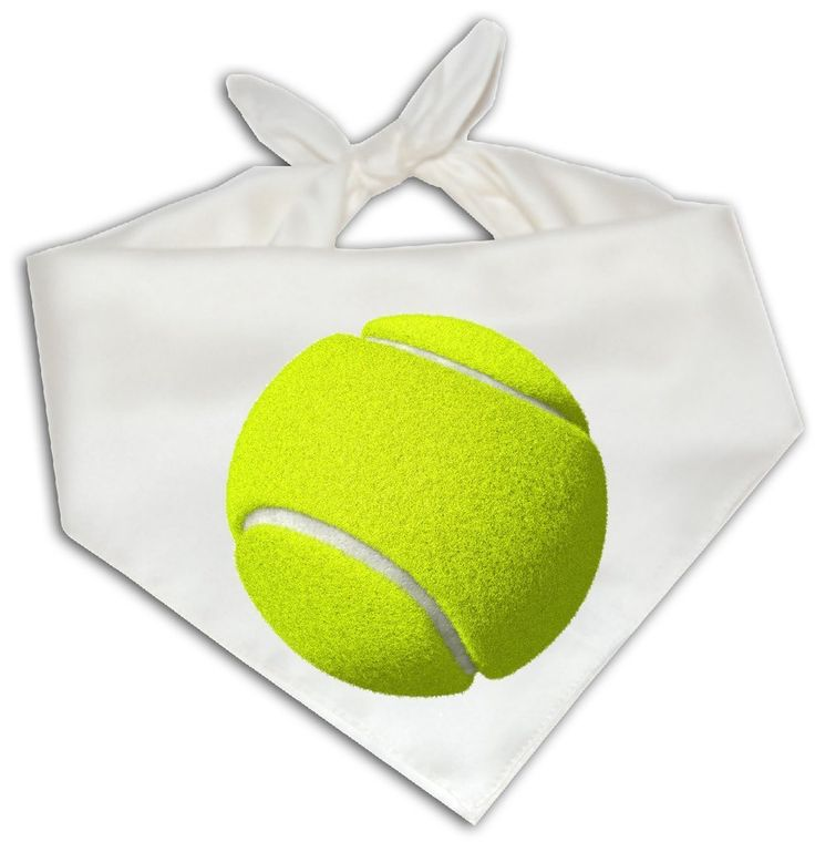 Tennis Ball - Dog Bandana One Size Fits Most - Funny Joke Humor Game Playing -- Awesome products selected by Anna Churchill