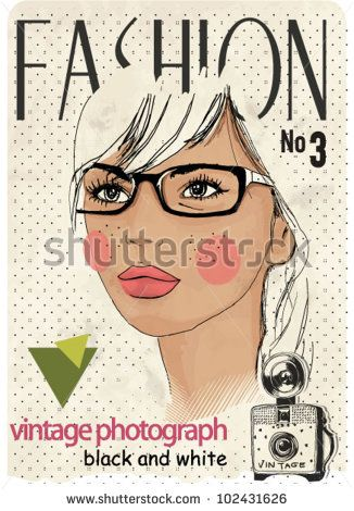 fashion girl with camera background