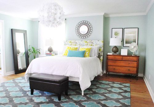 airy blue paint colors | Valspar's Carolina Inn Club Aqua at Young House Love