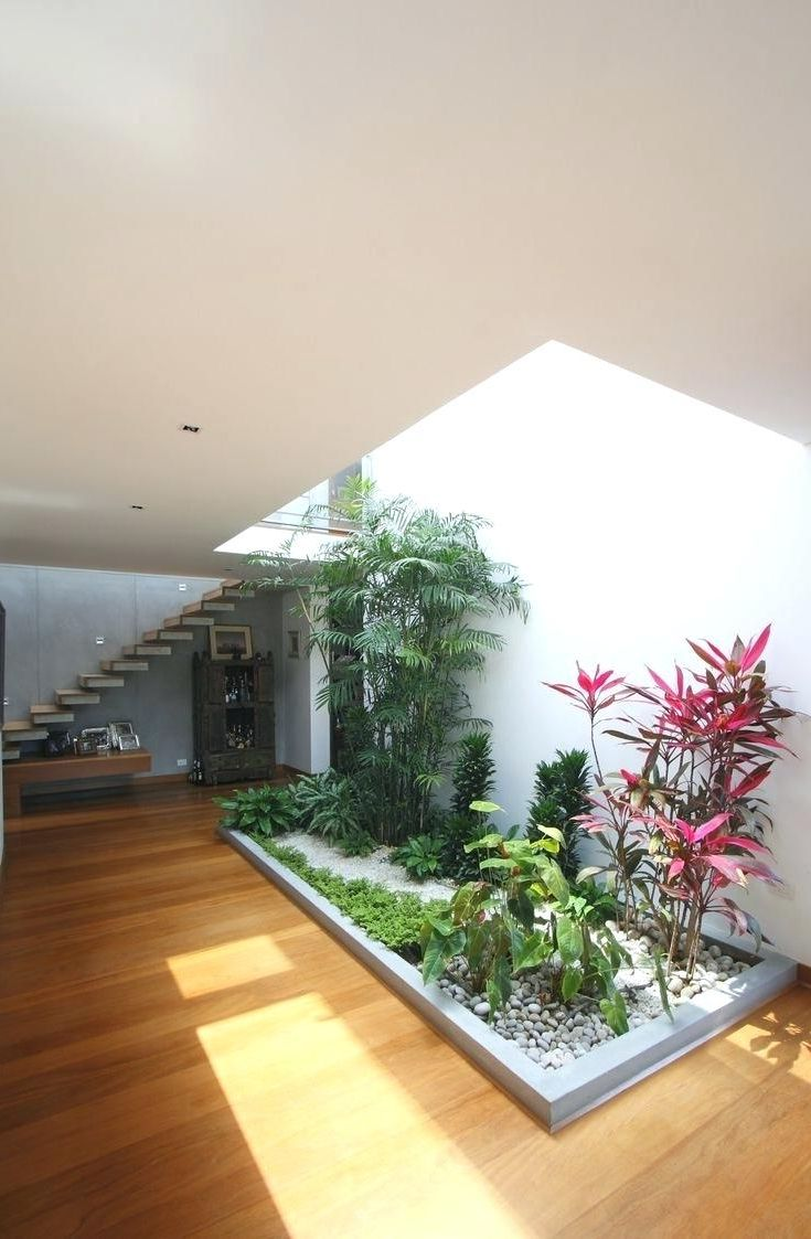 Garden Inside House Design and Modern Minimalist Indoor Garden